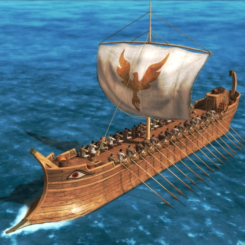 greek ship 3d model