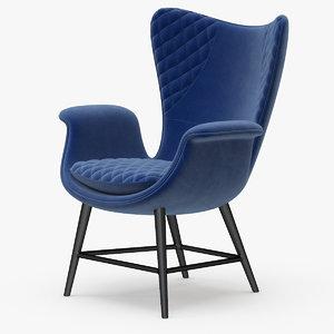 3d corona arm chair sessel