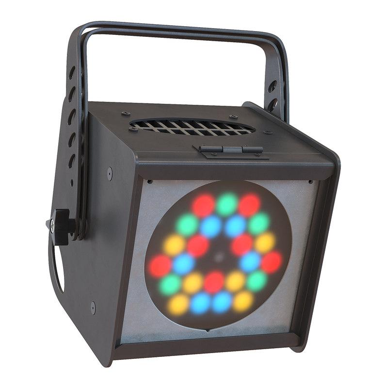 3d model led par light generic
