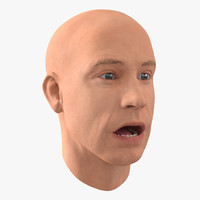 Male Head Rigged 4