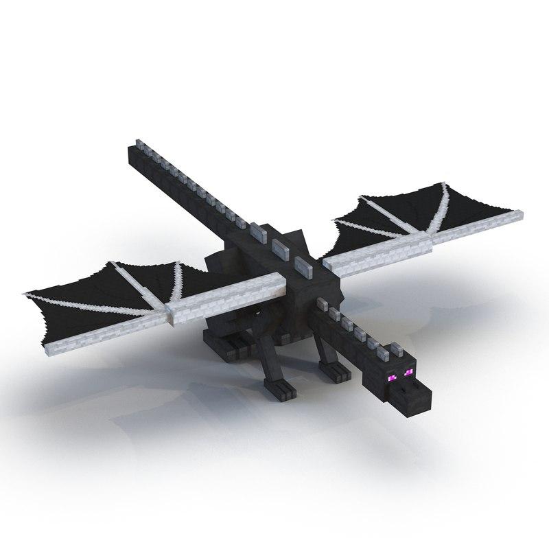 3d model minecraft ender dragon