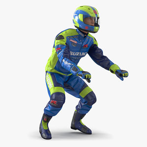 motorcycle rider rigged 3d max