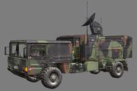 3d model radar radarcar millitary