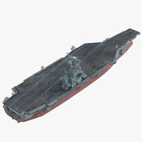 3d model uss abraham rigged