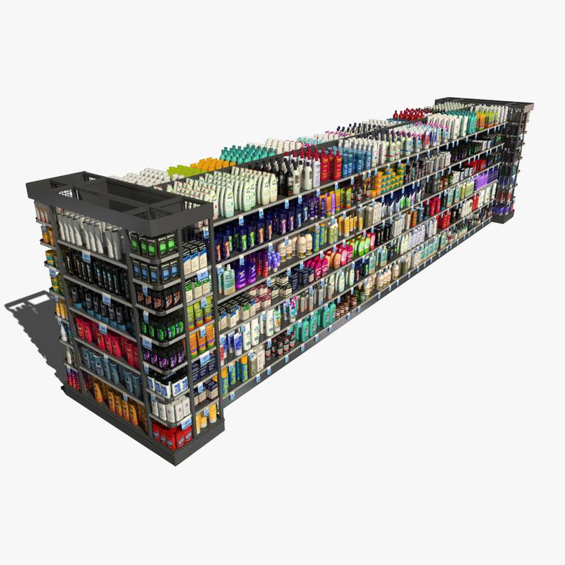 store shelf body care 3d model