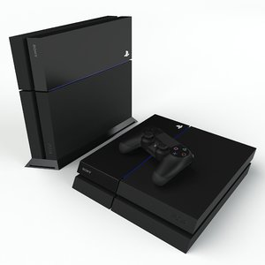 sony playstation 4 3d max