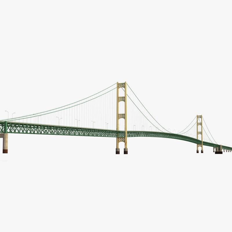 3d model mackinac bridge