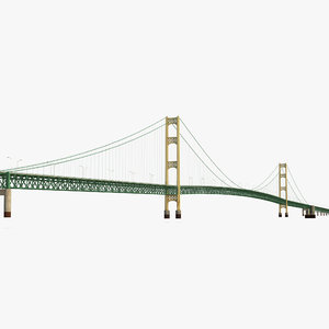3d model mackinac bridge