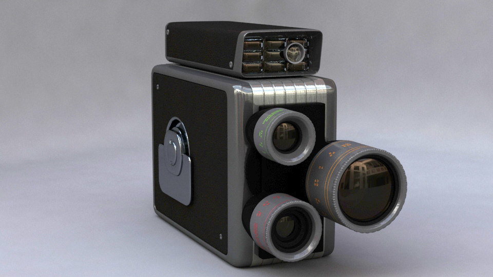 kodak 8mm 3d model