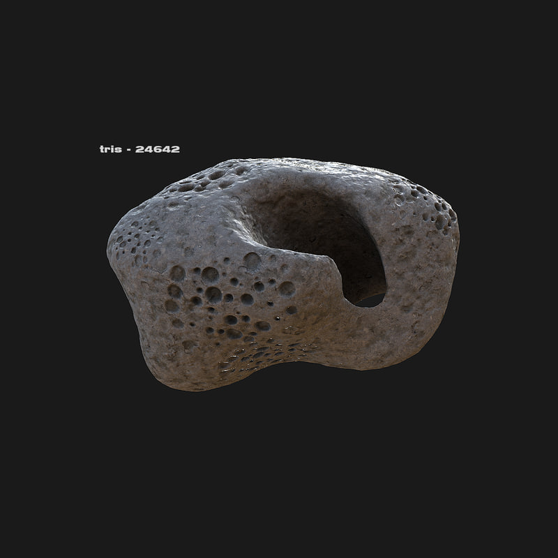 pack asteroid 3d model
