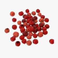 3d model of red peppercorns