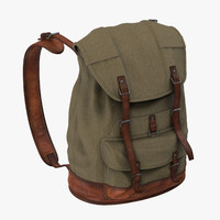 3d model standing travel backpack