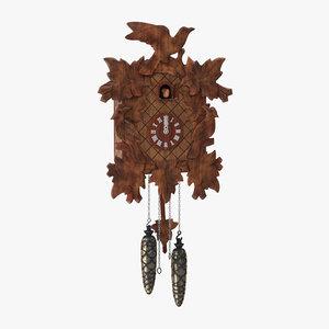 cuckoo clock rigged - 3d max