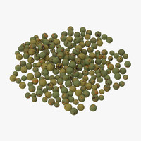 green peppercorns 3d model