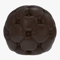 sphere pouf 3d model