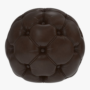 sphere pouf 3d model