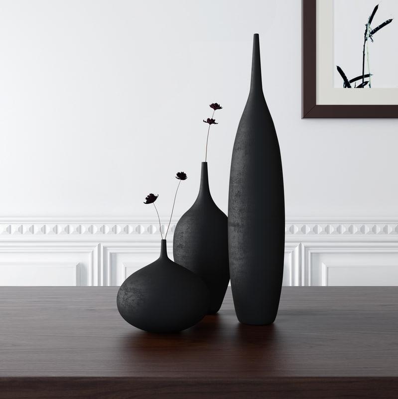 3d model vases sara paloma