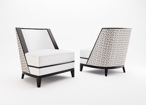 3d model sloane occasional chair