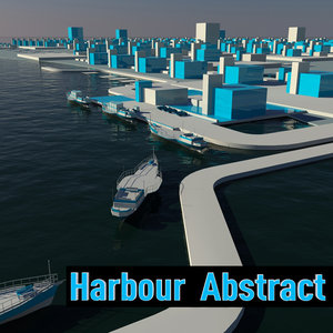 abstract harbour 3d obj