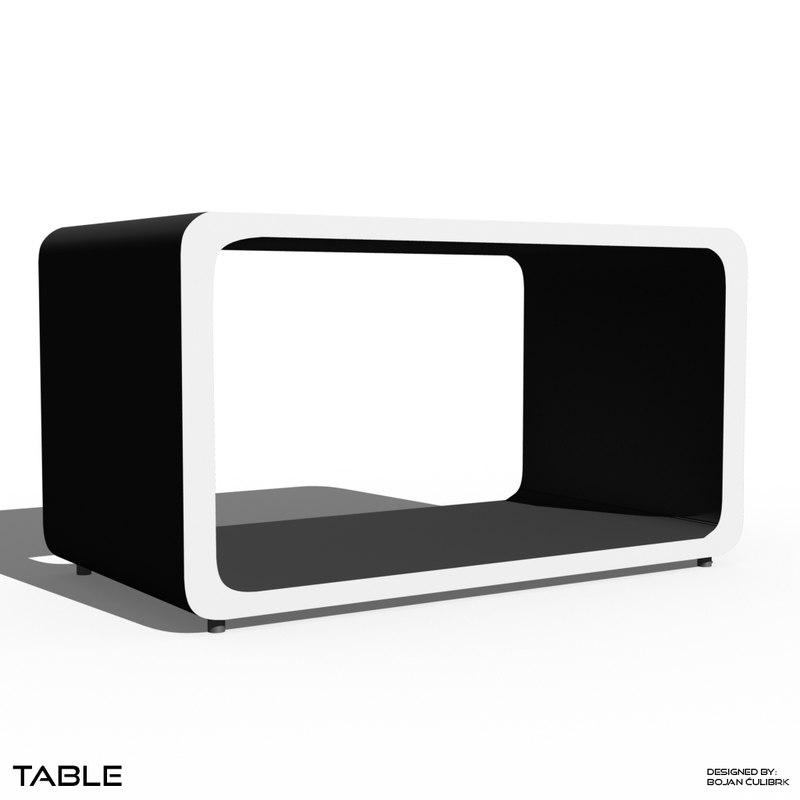 3d cube table model