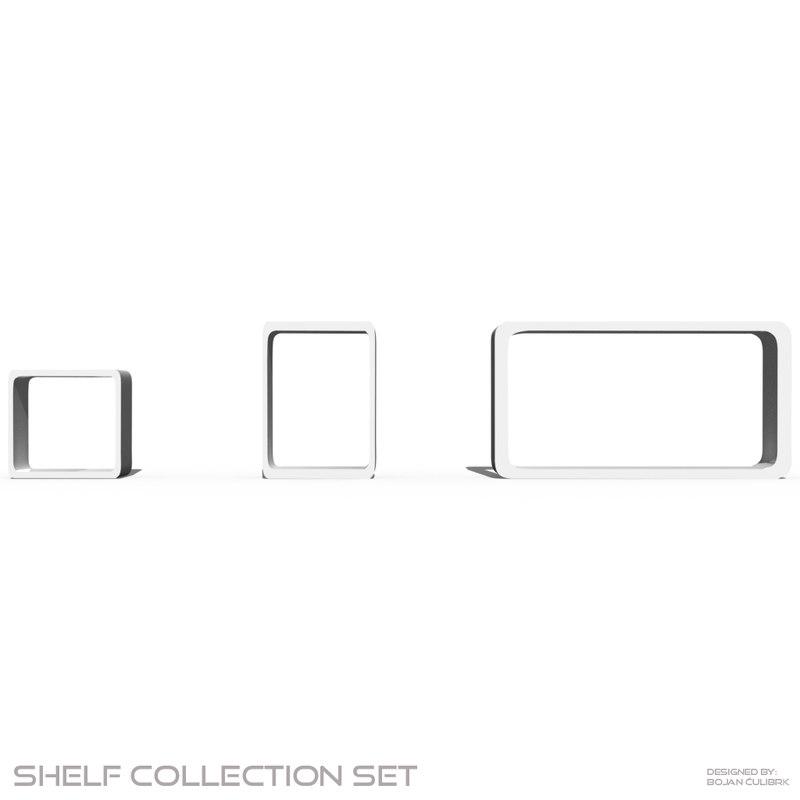 shelf set obj