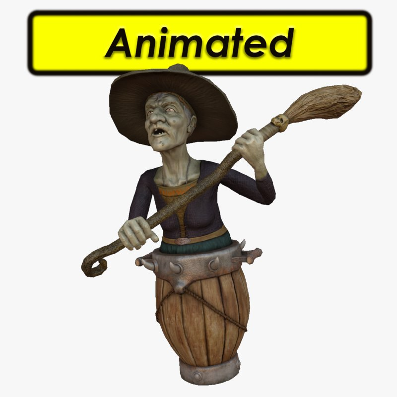 wicked witch 3d model