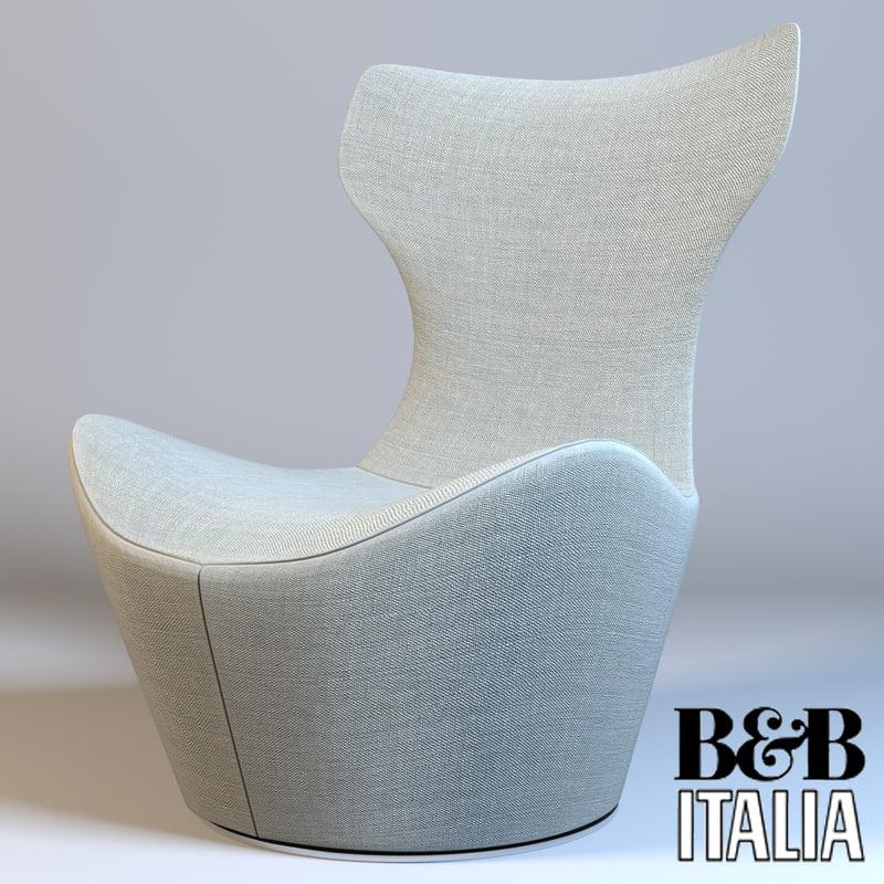 3d model of armchair grandepapilio italia