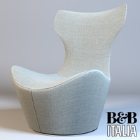 3d model of armchair grandepapilio italia