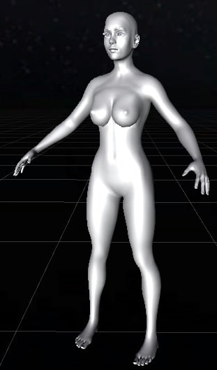 character female basic 3d model