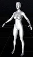 character female basic 3d model