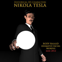Nikola Tesla 3D Model Rigged