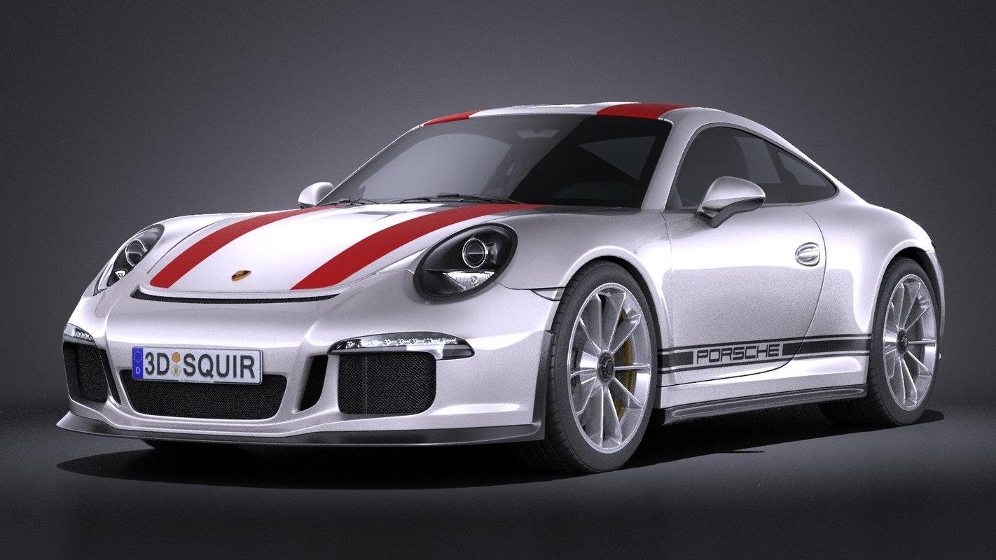 porsche 911 r 3d model