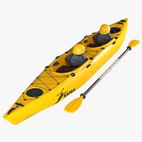 3d tandem kayak model