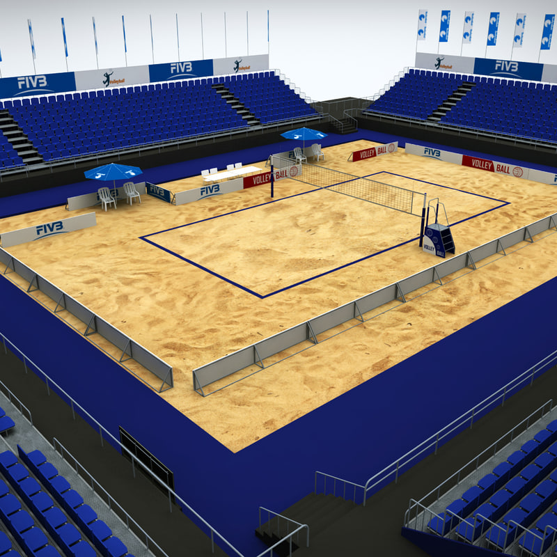 3d model volleyball court