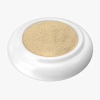 bowl ground white pepper 3d model