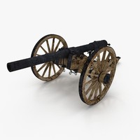 3d model of civil war cannon