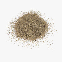 fine ground black pepper 3d model