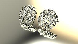 ice earrings jd20 3d 3ds