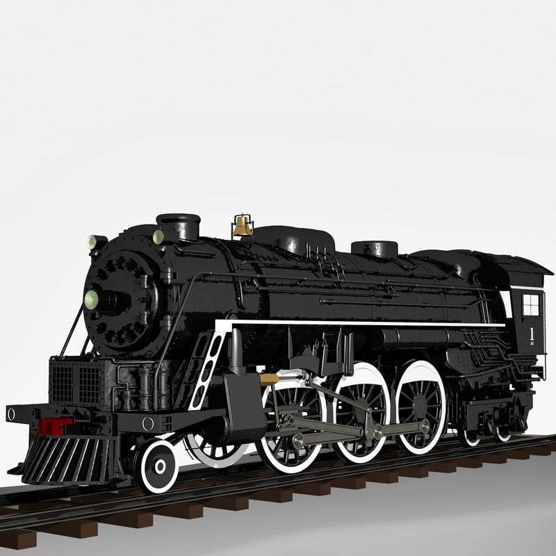 3d model 2-6-4 a1 steam locomotive