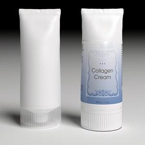 3d bottle cream