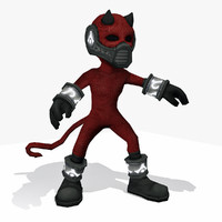 3d - demon cartoon character