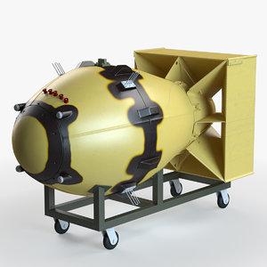 3d fat man atomic bomb