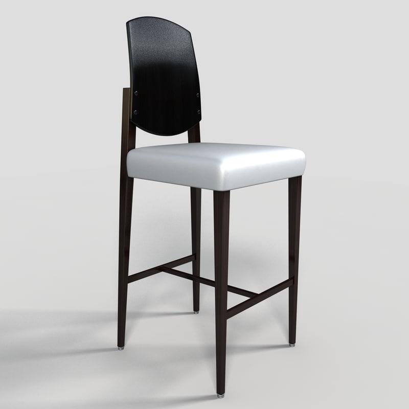 bar stool 3d obj