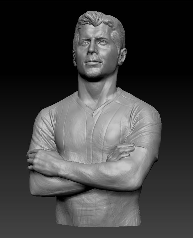 3d soccer bust
