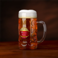 Patterned Beer Mug
