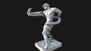 3d athlete statue