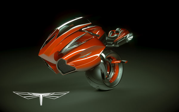 3d bike wheel model