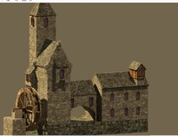 stone house 3d dwg