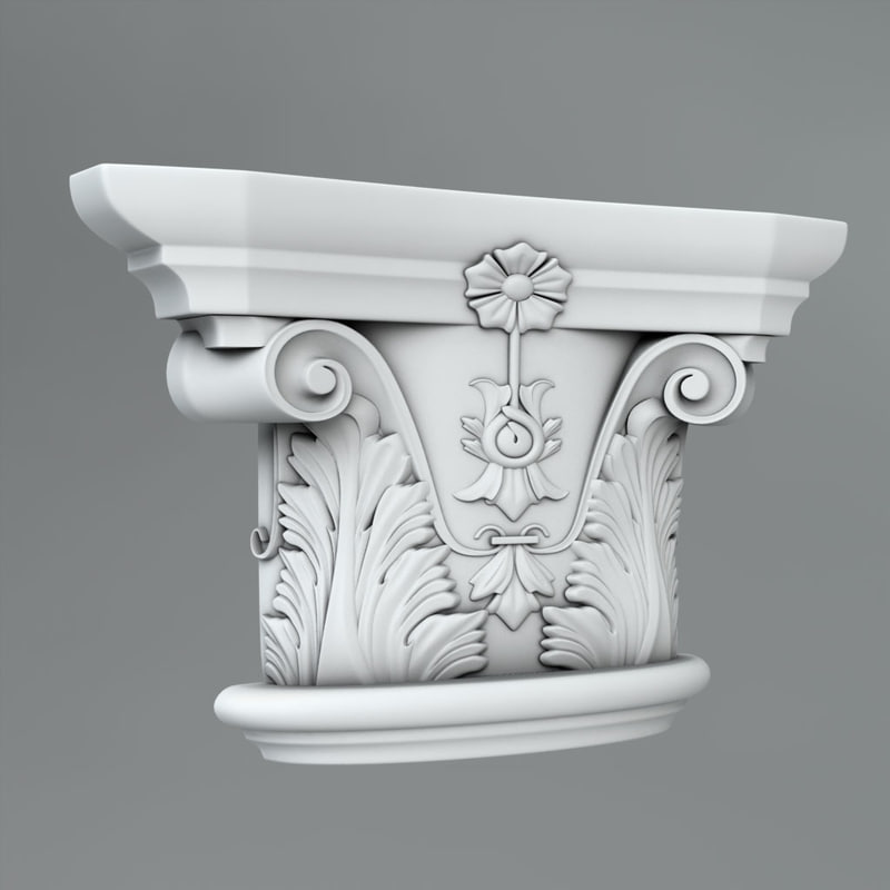 classical decoration ornamental 3d max