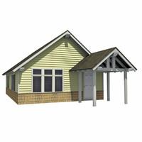 3d - small modern house